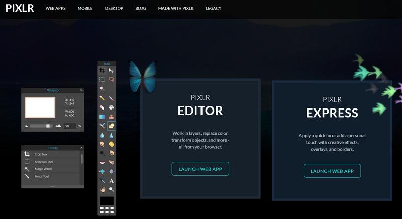 La créativité nomade avec PIXLR editor