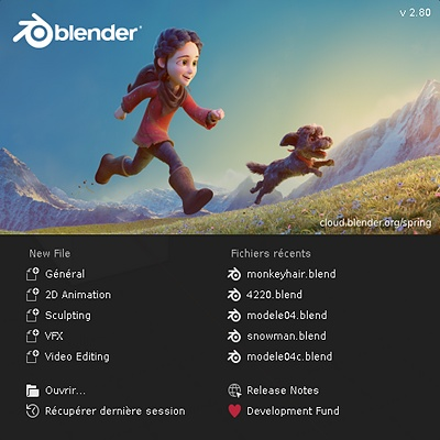 Blender 3D version 2.80